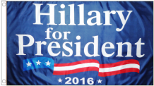 Hillary For President 2016 5'x3' (150cm x 90cm) Imported Flag !